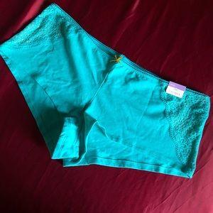 72b5341f40d9 Cacique Intimates & Sleepwear   Burnt Orange Teal Mesh Thong 1416 ...